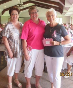 Pink Ribbon Society Secretary/Treasurer, Maura Rowley (left) and Pink Ribbon Founder/President, Ann Peters (right) are shown with the South Shore Ladies Thursday Morning Golf League President, Mary Lou Thompson. This is the fifth consecutive year the League has held a golfing event donating the proceeds to Pink Ribbon Society. To date, the league has donated over $ 24,000 - NOT including this year's contribution.....more details to come When asked why they prefer to recognize our efforts as opposed to other breast cancer organizations, they indicated it is because we keep our money local supporting the men and women of our own communities whose lives have been touched by breast cancer..... We had a great time visiting and luncheon with the ladies at the River Point Golf Club...looking forward to next year. To date the golf league has donated over $ 30.000 to the Pink Ribbon Society.